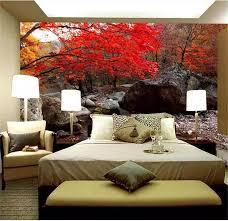 benutzerdefinierte 3d fototapete bett zimmer mural forest leaves stein 3d malerei sofa tv hintergrund vliestapete für wand 3d