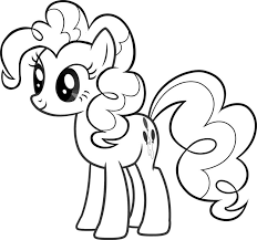 Pinkie Pie My Little Pony Free Coloring Page