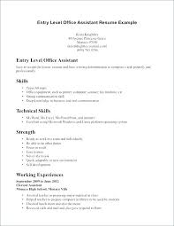 Entry Level Resume No Experience Med Sample Template Accounting Assistant