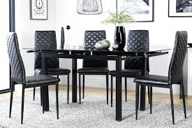Black Kitchen Table Set Rustic Dining Room