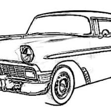 Printable Coloring Pages And On Vintage Cars