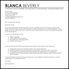 Courier Driver Cover Letter Sample