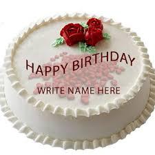 Write name your Lover happy birthday cakes love birthday cake greetings Lover Name