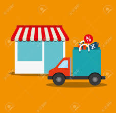 100 Truck Store Shopping Bag Truck Store Online Payment Ecommerce Icon Flat