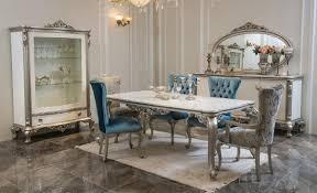 casa padrino luxus barock sideboard mit spiegel weiß silber eleganter massivholz schrank mit wandspiegel barock möbel