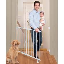 Summer Infant Decorative Extra Tall Gate by Summer Infant Top Of Stairs Simple To Secure Metal Gate White