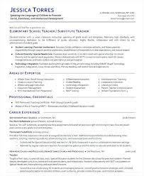 Teaching Resume Example Elementary Substitute Teacher Template Google Docs
