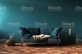 home interior mockup mit grünen sofa tisch und dekoration im wohnzimmer stockfoto und mehr bilder ast pflanzenbestandteil