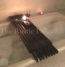 bathtub caddy i made for my wife it has a hand towel holder