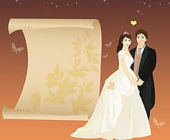 Famous Wedding Invitation Card Background Material Picture Download