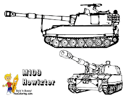 Memorial Day Coloring Printables M109 Combat Tank Tell Other Kids You Found YesColoring