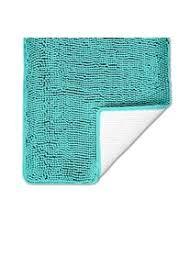 luxuriöser chenille badteppich 50 x 30 cm weich und