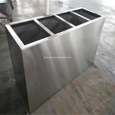Decorative Sheet Metal Banding by China Outdoor Stainless Steel Flower Pots Manufacturers