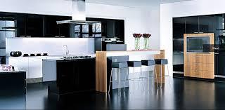 White Black Kitchen Design Ideas by Kitchen Modern White And Black Interior Design In Open Floor