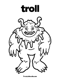 Ugly Troll Colouring Pages The Three Billy Goats Gruff
