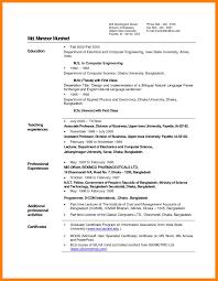 Sample Resume For Lecturer