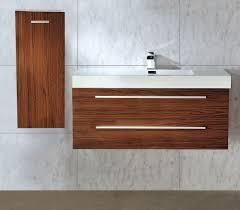Ebay Bathroom Vanity 900 by 1000 Mm Wall Hung Walnut Bathroom Basin Sink Vanity Side Cabinet