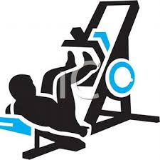 Silhouette Of A Man Doing Leg Presses At Gym
