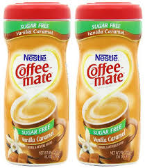 Nestle Coffee Mate SUGAR FREE Vanilla Caramel Powdered Creamer 102 Oz 2 Pack
