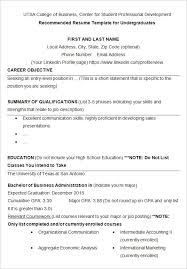 College Student Resume Templates Sample