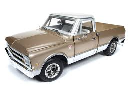 100 White Pick Up Truck 1968 Chevrolet C10 Fleet Side Up Gold Top Limited