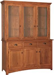 Transitional 3 Door China Hutch W Touch Lights By Country Value Woodworks