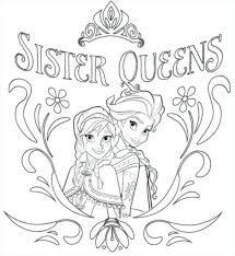 Frozen Elsa And Anna Coloring Pages Printable Free Page Design Colouring