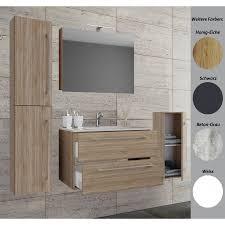 vcm 5 tlg waschplatz badmöbel badezimmer set waschtisch waschbecken schubladen keramik badinos spiegelschrank