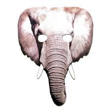 Elephant Cardboard Cutout Mask