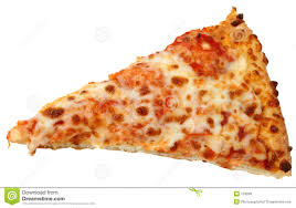 Cheese Pizza Slice Over White Background Royalty Free Stock s