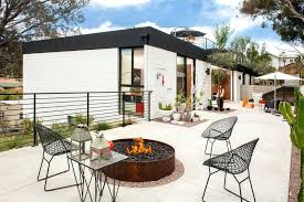 Mid Century Modern Outdoor This Home Has A Minimalist Patio Area Inspired By