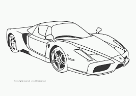 Super Car Ferrari Enzo Coloring Page Cool Printable Free