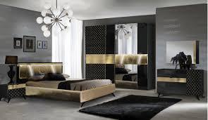 schlafzimmer set in schwarz gold yatego