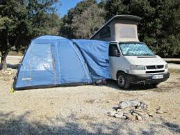 Drive Away Camper Awning Attached To The Van