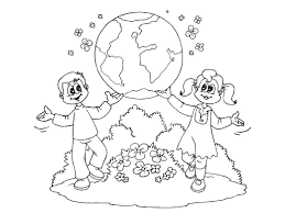World Day Earth Printable Coloring Pages For Preschool