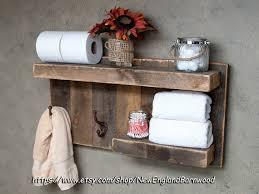 Bathroom ShelfBathroom Wall Shelf Decor For Rustic Towel Hooks Ideas 9