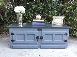 Gorgeous White Clad Ice box LIFT TOP coffee table by
