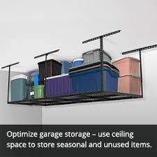 amazon com fleximounts 3x8 overhead garage storage rack