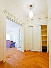 Floor To Ceiling Tension Rod Shelves by Closet Curtain Designs And Ideas Hgtv