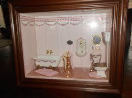 puppenstube badezimmer guck schaukasten zum aufhängen eur