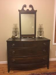 Broyhill Brasilia Dresser With Mirror by Antique Wooden Bow Front Victorian Dresser With Mirror Bu Dixie By