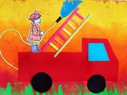 Fire Truck Craft Idea For Kindergarten