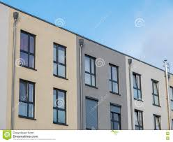 100 Townhouse Facades Modern Low Rise S With Blue Sky Stock Image Image