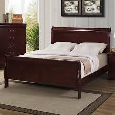 louis phillipe queen sleigh bed in cherry nebraska furniture mart