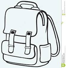 B&w clipart backpack Pencil and in color b&w clipart backpack