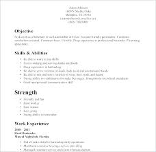 Server Resume Example Restaurant Fine Dining Template