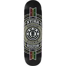 element skateboards nyjah huston rasta st skateboard deck 8 x