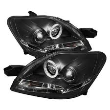 toyota yaris sedan 2007 2011 black halo projector headlights with
