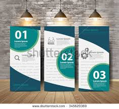 Corporate Tri Fold Brochure Poster In Crack Brick Wall And Wooden Floor Room Inspiration Concept