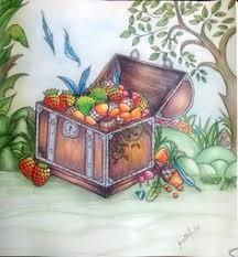 Treasure Enchanted Forest Adult ColoringColoring BooksColouringJohanna